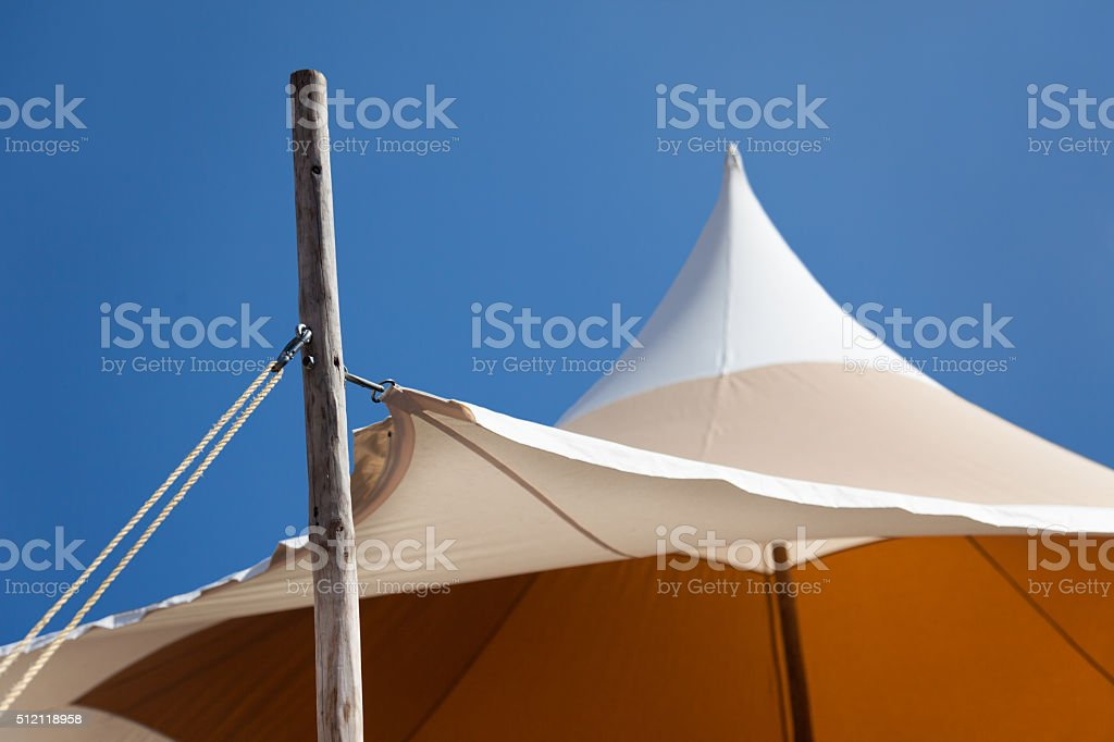 Tension awning stock photo