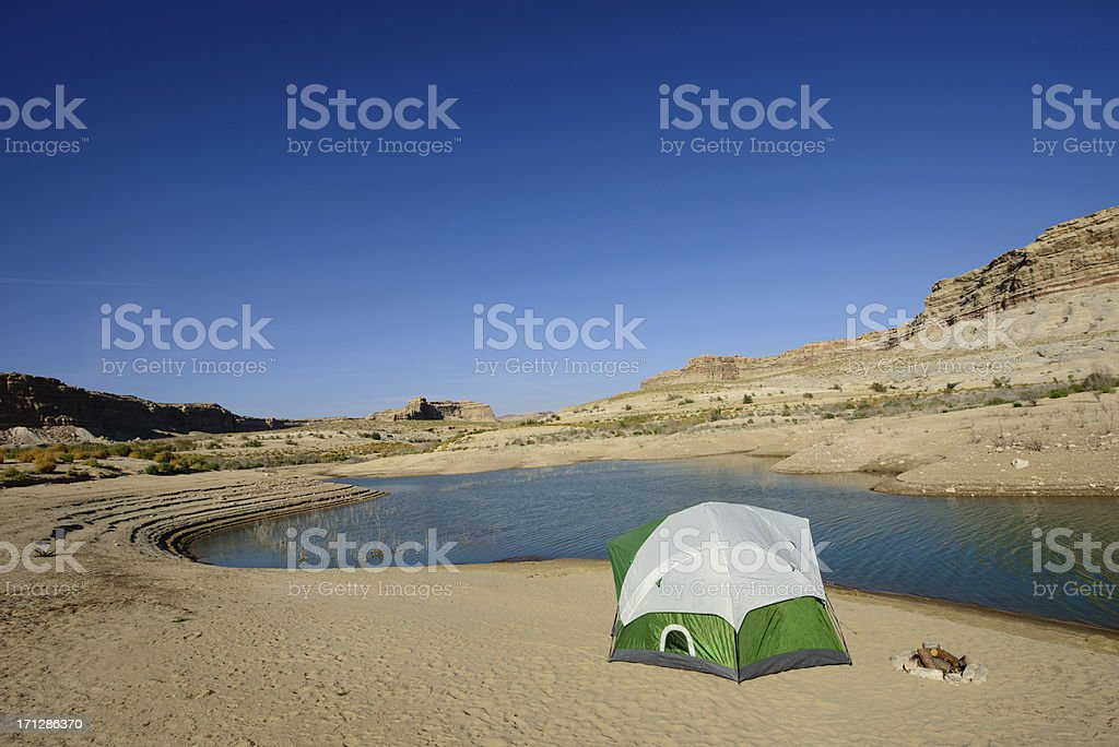Tent by Bay royalty-free stock photo