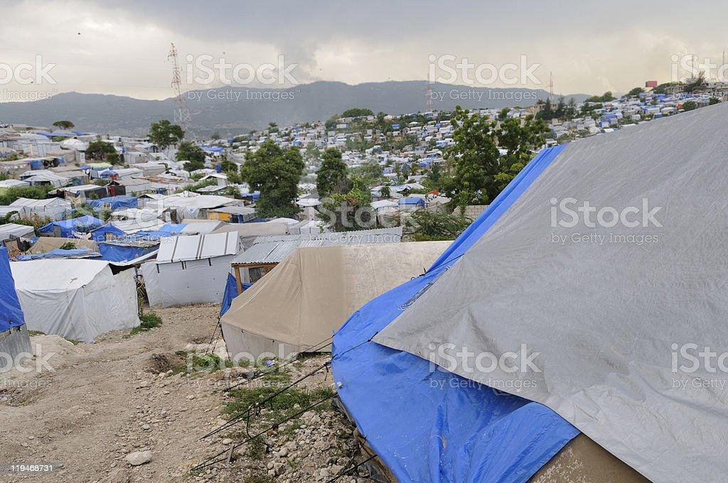 Tent City stock photo