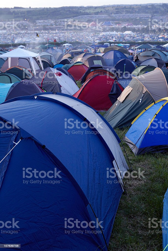 Tent City stock photo