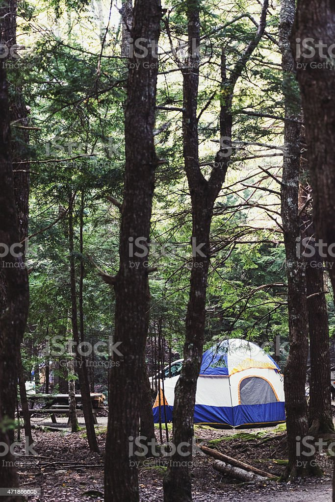Tent Dwellers stock photo