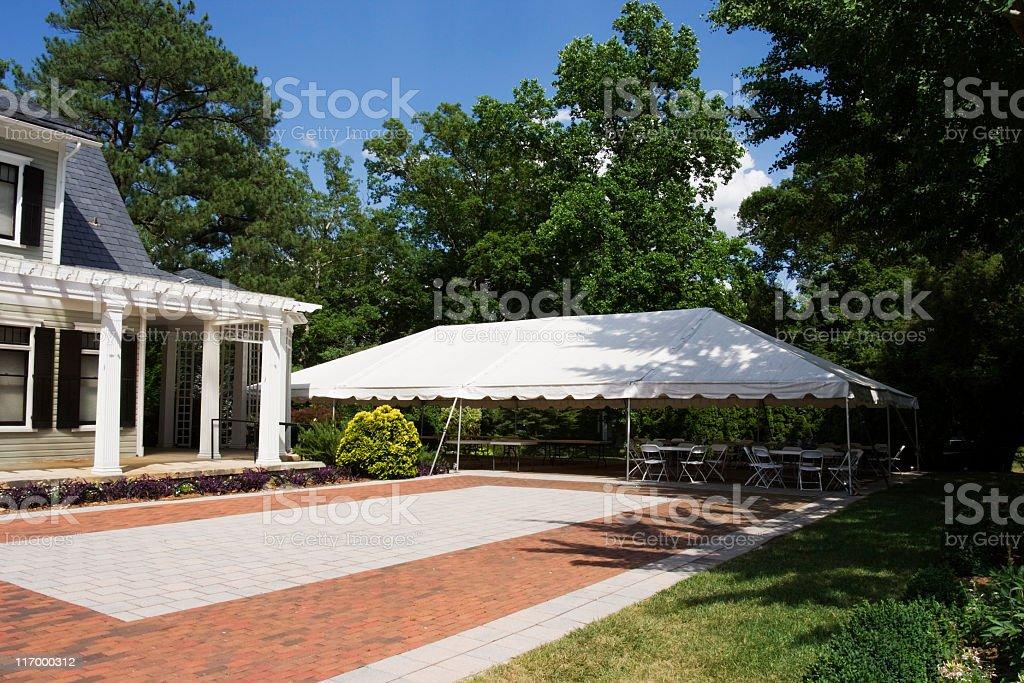 Tent Event stock photo