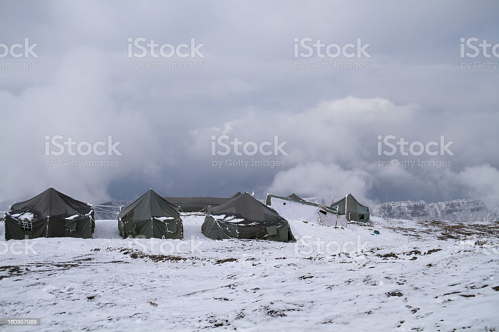 Tent hotel royalty-free stock photo