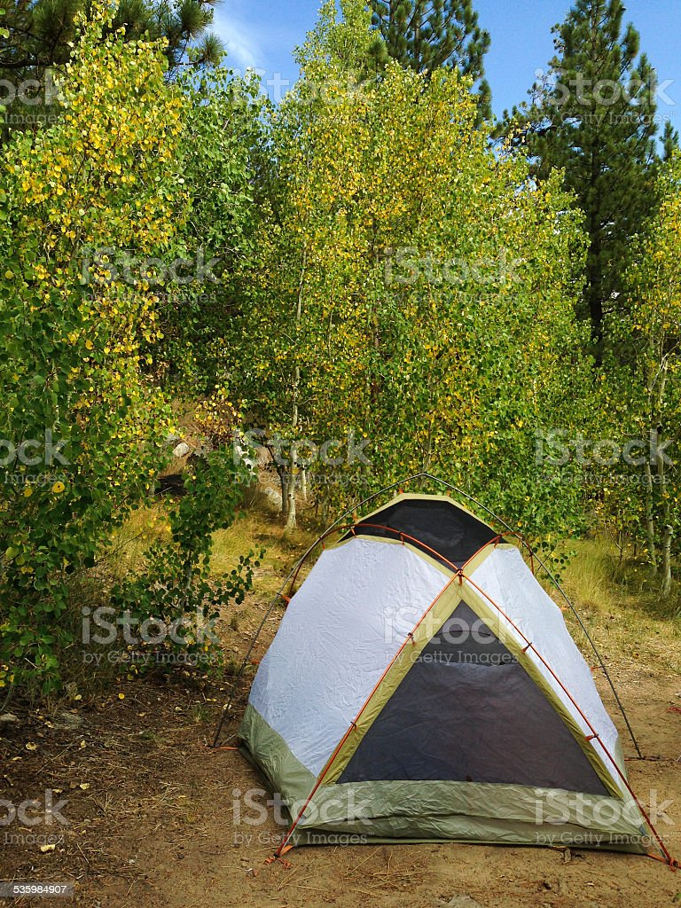 Tent in the Aspens royalty-free stock photo