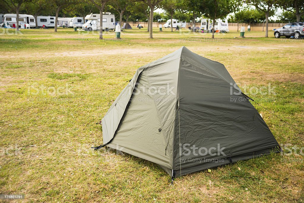 Tent In The Forest During A Summer Camp royalty-free stock photo