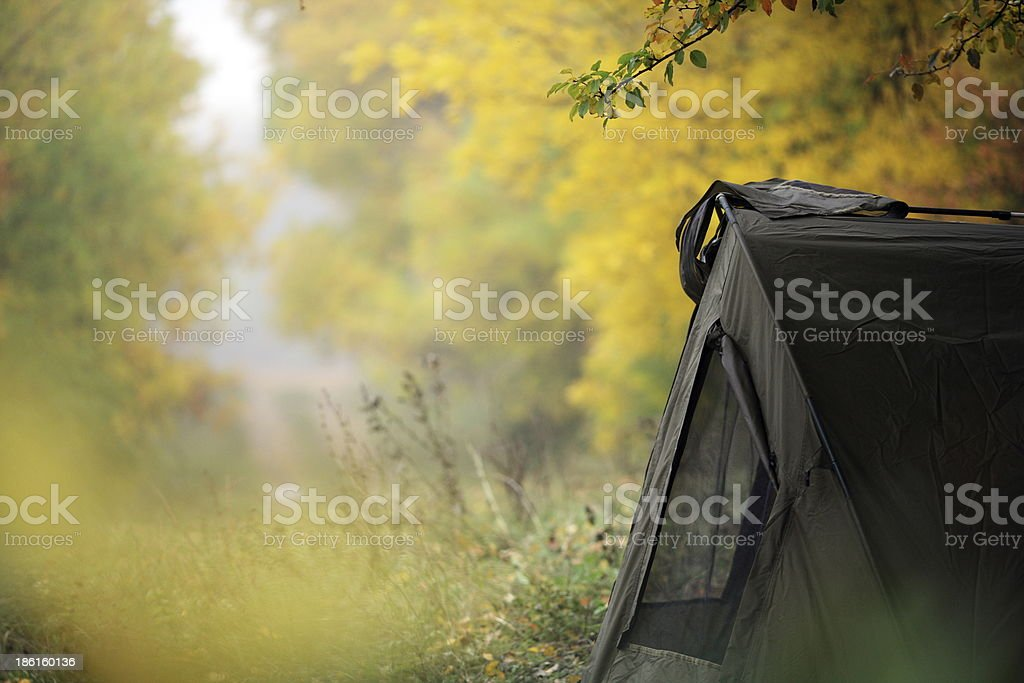Tent in the woods royalty-free stock photo