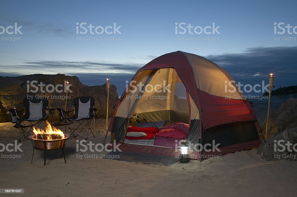 tent on the beach royalty-free stock photo