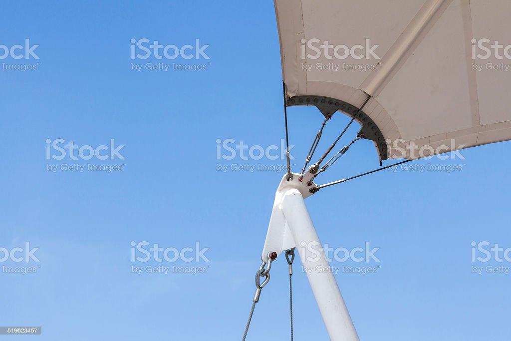 Tent Poles stock photo