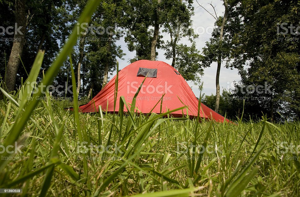 tent red stock photo