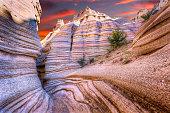 Tent Rocks Canyon at Sunrise