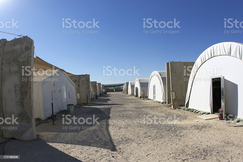 Tent Row stock photo