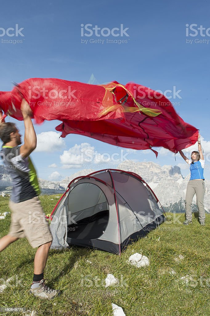 Tent structur together we are strong stock photo