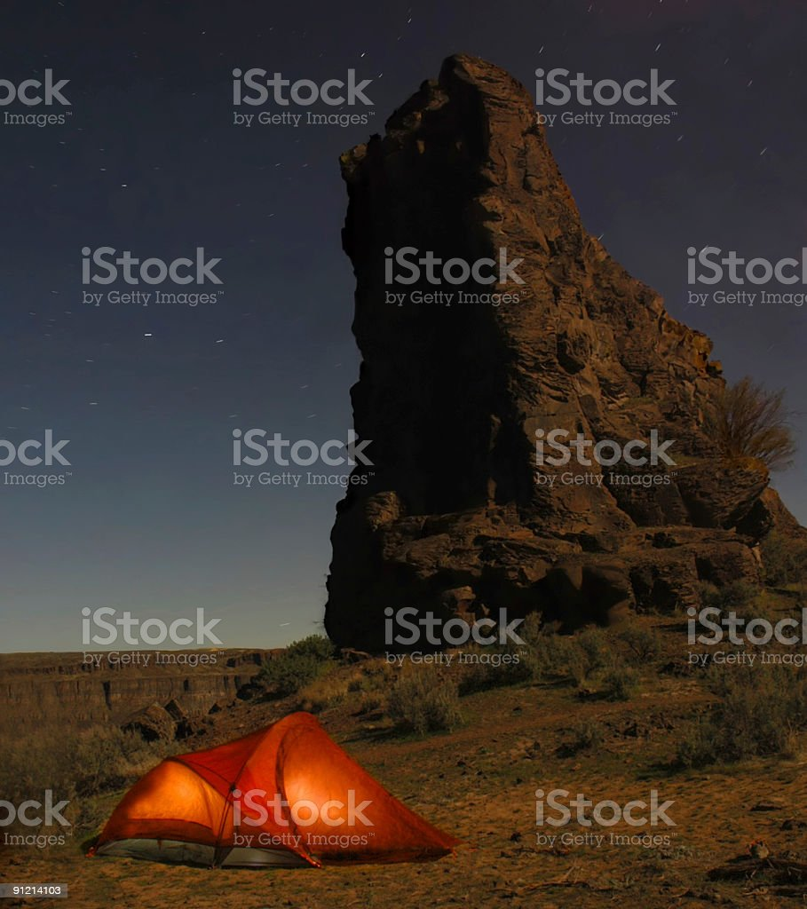 Tent with stars royalty-free stock photo