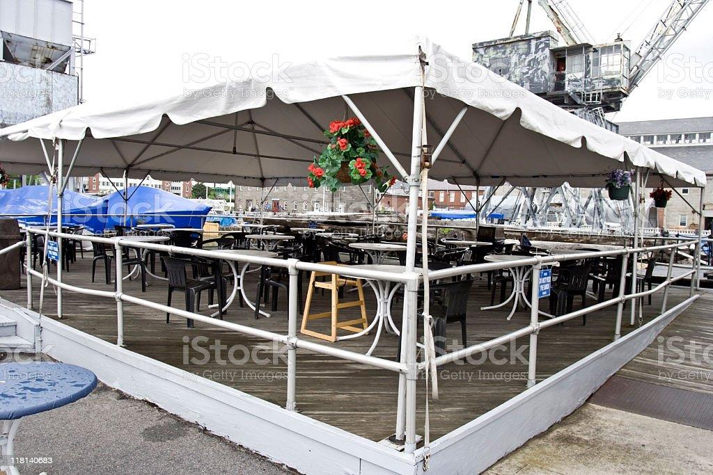 Tented Patio Restaurant stock photo