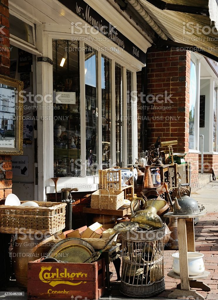 Tenterden Antiques Shop royalty-free stock photo