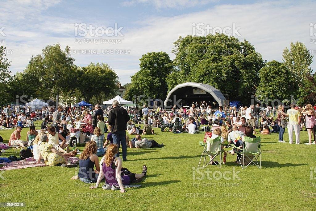 Tentertainment music festival royalty-free stock photo