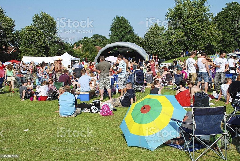 Tentertainment music festival, Tenterden royalty-free stock photo