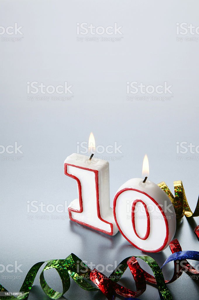 Tenth royalty-free stock photo