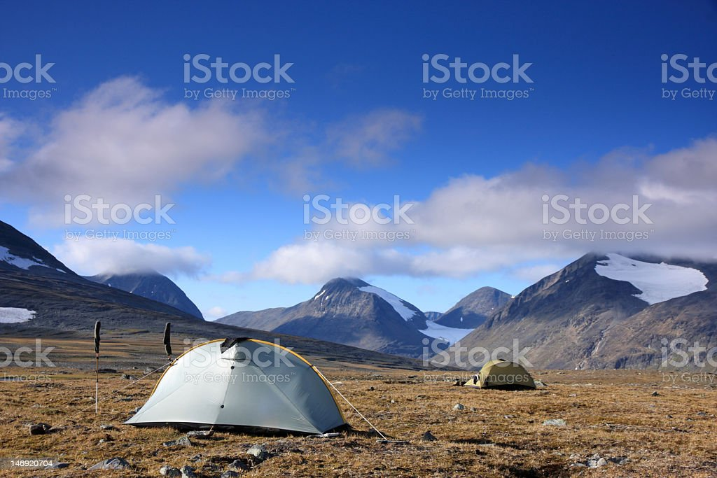 Tents in the great outdoors royalty-free stock photo