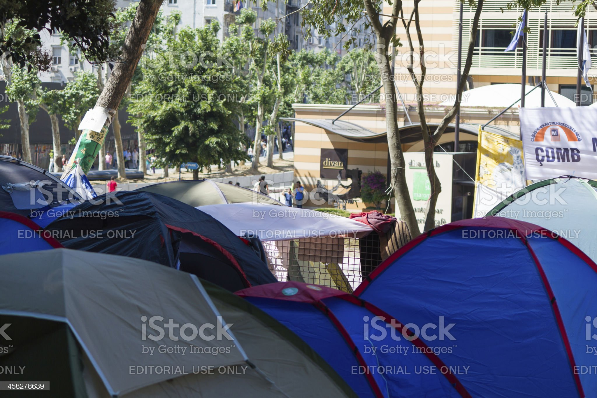 Tents next to the Divan Hotel royalty-free stock photo