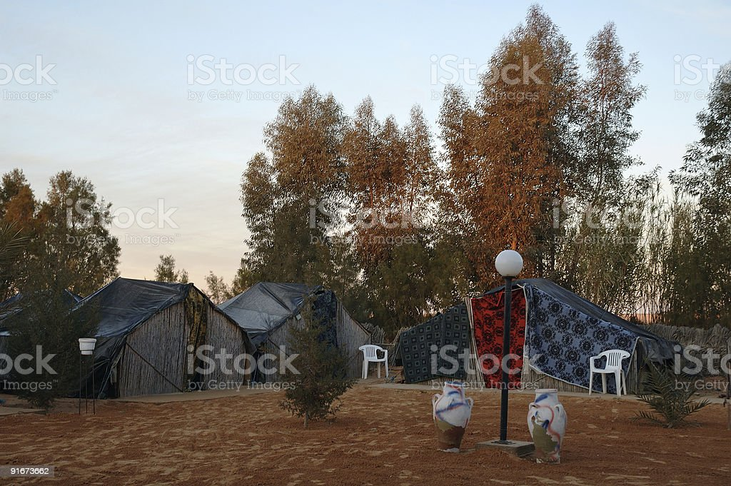 Tents of the nomadic Bedouin tribes royalty-free stock photo