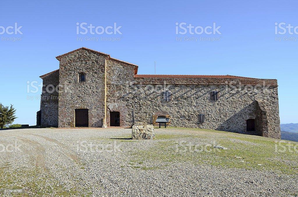 Tentud?a monastery facade stock photo