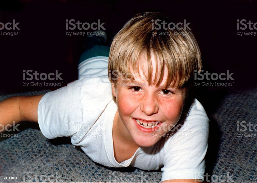 Ten-year old joy royalty-free stock photo