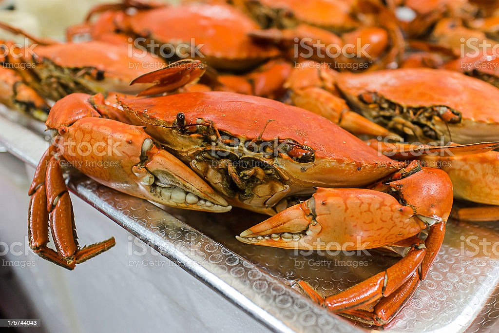 Teochew cold crab royalty-free stock photo