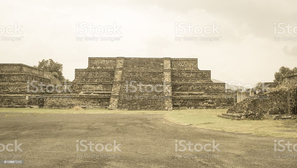 Teotihuacan ancient mesoamerican city ruins in Mexico stock photo