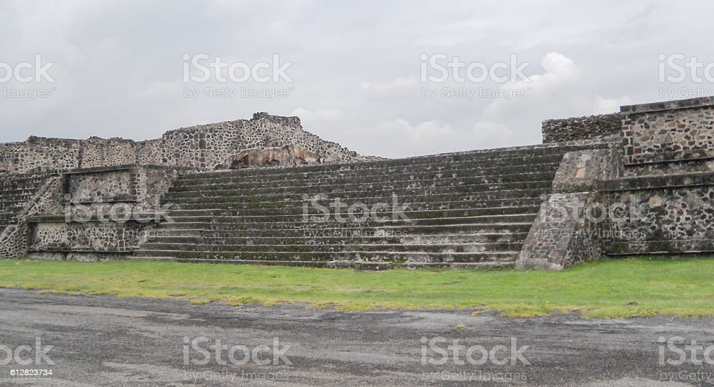 Teotihuacan ancient sacred mesoamerican city in Mexico stock photo