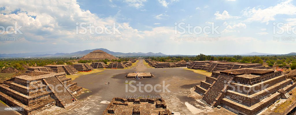 Teotihuacan, Mexico, Pyramid stock photo