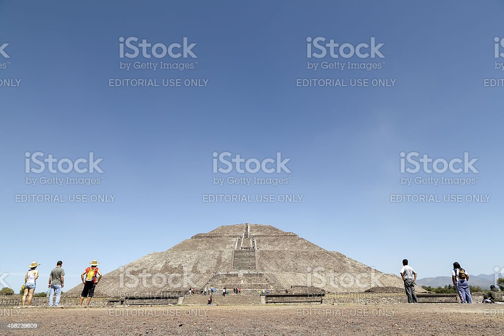 Teotihuacan Pyramids in Mexico royalty-free stock photo