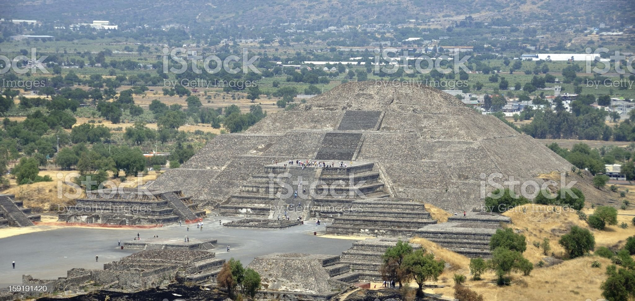 Teotihuacan Pyramids, Mexico royalty-free stock photo