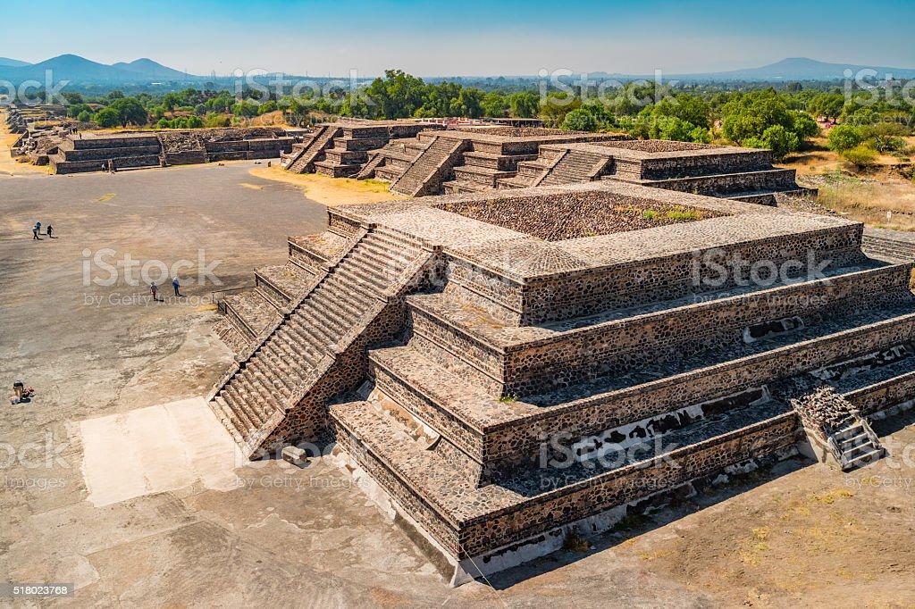 Teotihuacan Pyramids Mexico stock photo
