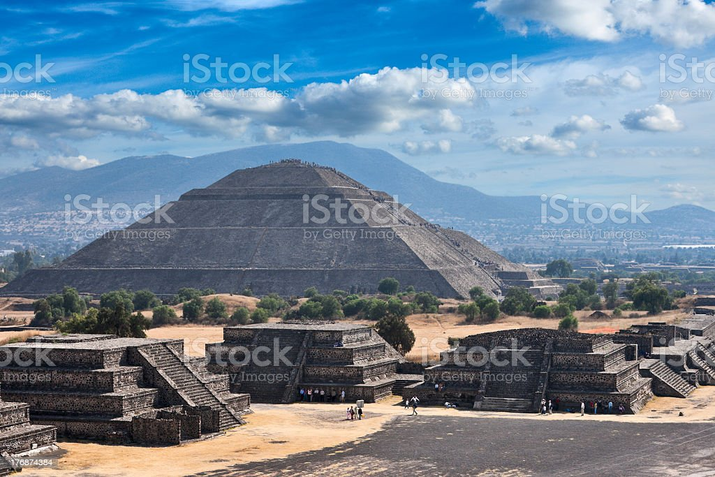 Teotihuacan Pyramids stock photo