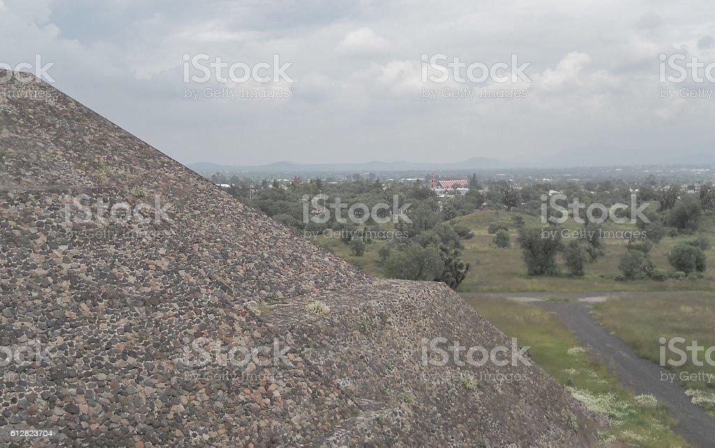 Teotihuacan. Small pyramids stock photo
