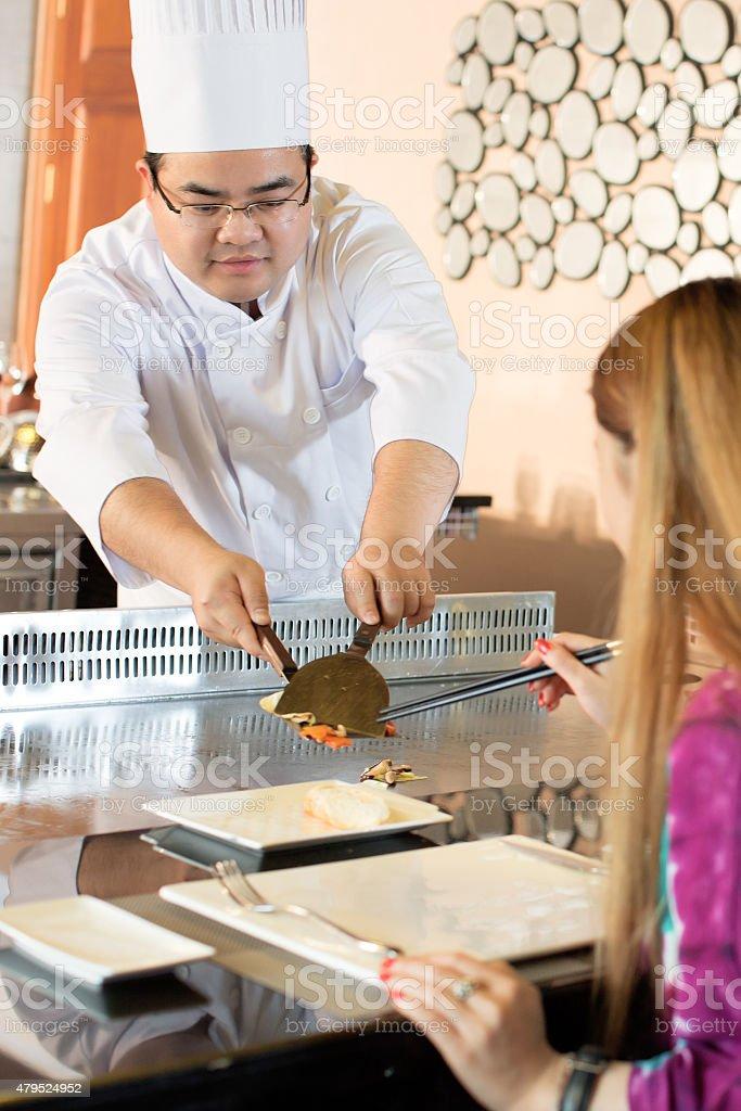 Teppanyaki Chef stock photo