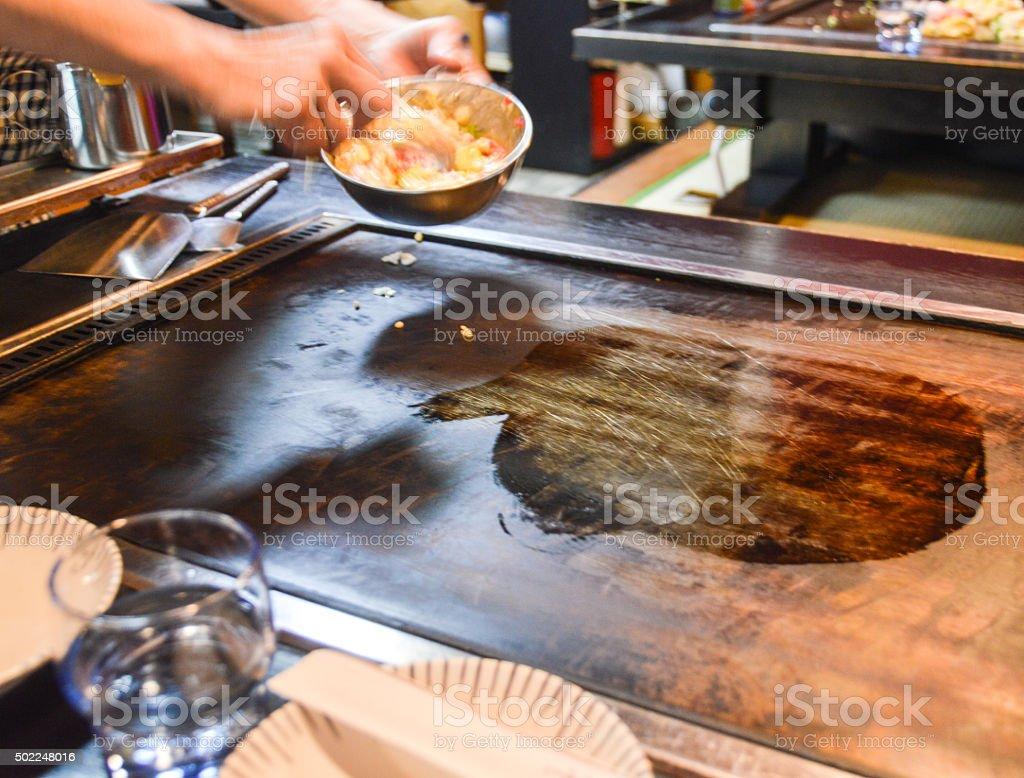 Teppanyaki - Japanese Grill stock photo