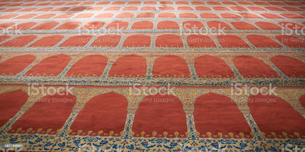 Teppich in einer Moschee stock photo