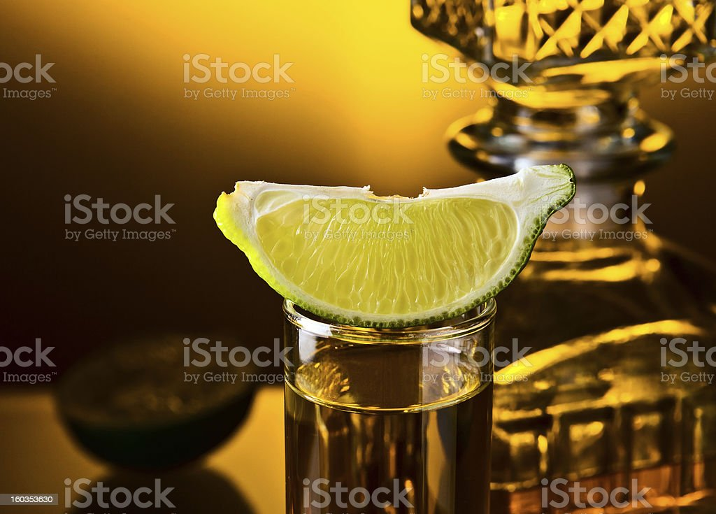 tequila and lime royalty-free stock photo