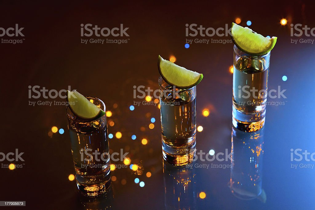 tequila and lime. royalty-free stock photo