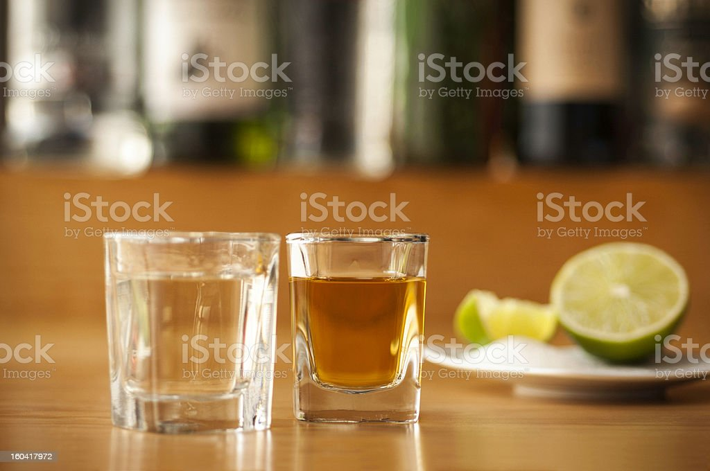 Tequila at a bar royalty-free stock photo
