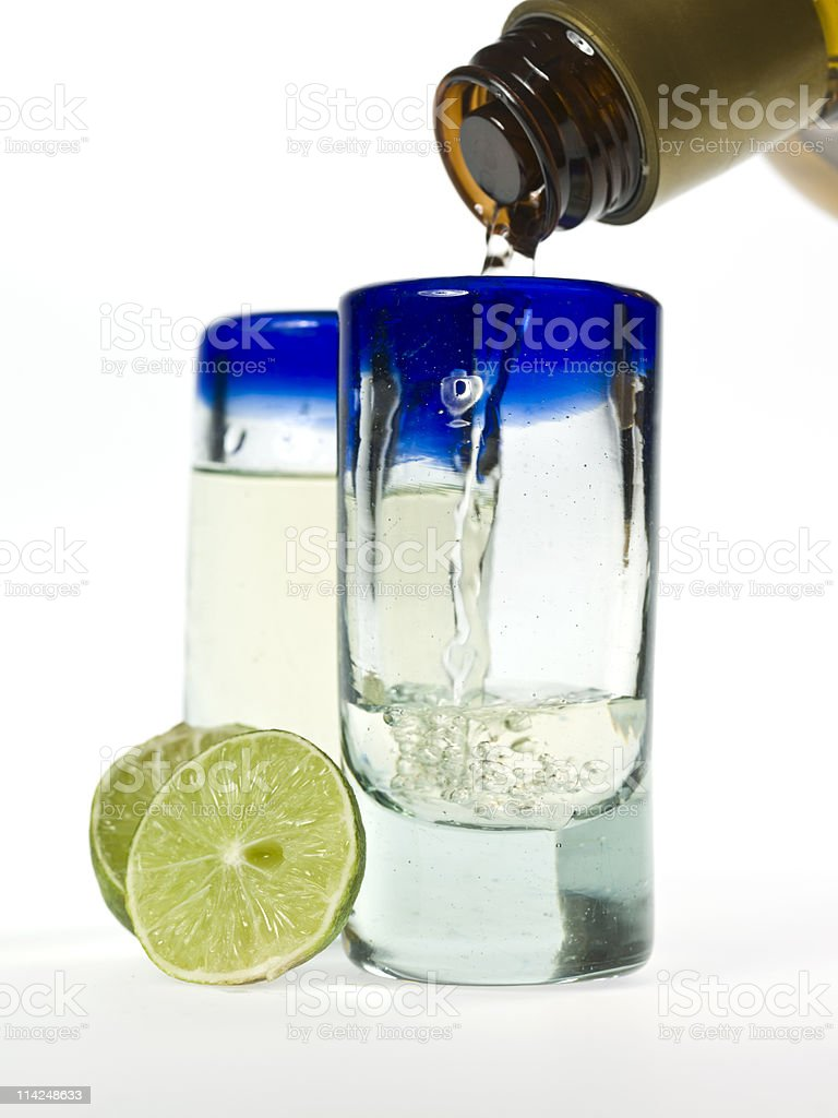 Tequila for two stock photo
