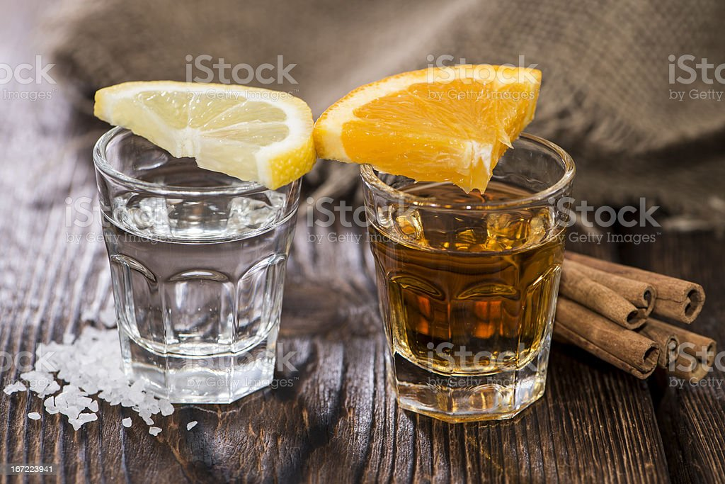 Tequila Gold and Silver royalty-free stock photo