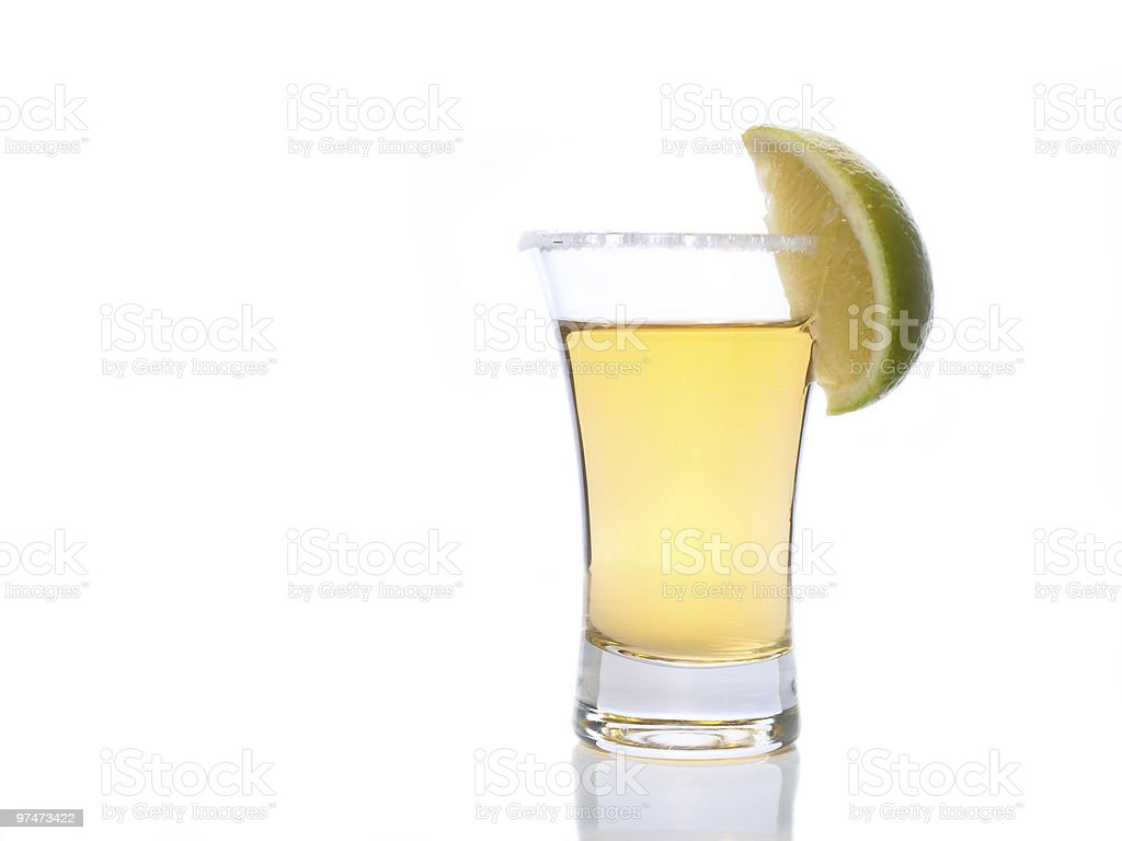 Tequila in a shot glass royalty-free stock photo