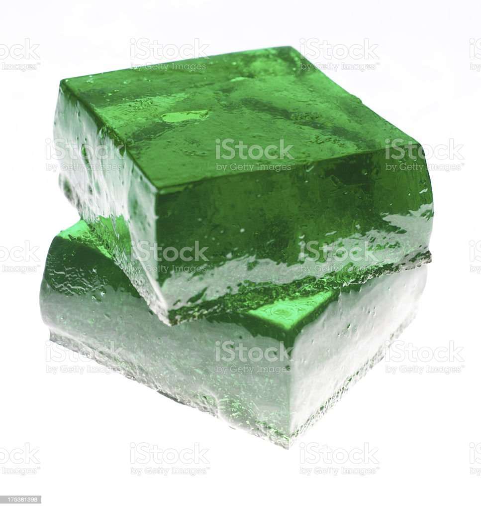 Tequila Lime Jello Jigglers stock photo