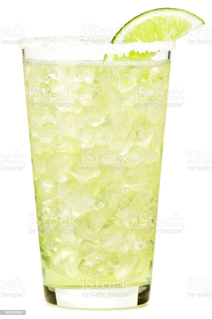 Tequila Margarita Cocktail Isolated on White Background stock photo