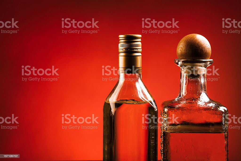 Tequila on red royalty-free stock photo