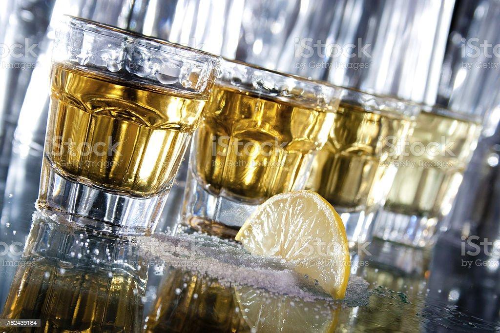 Tequila row stock photo