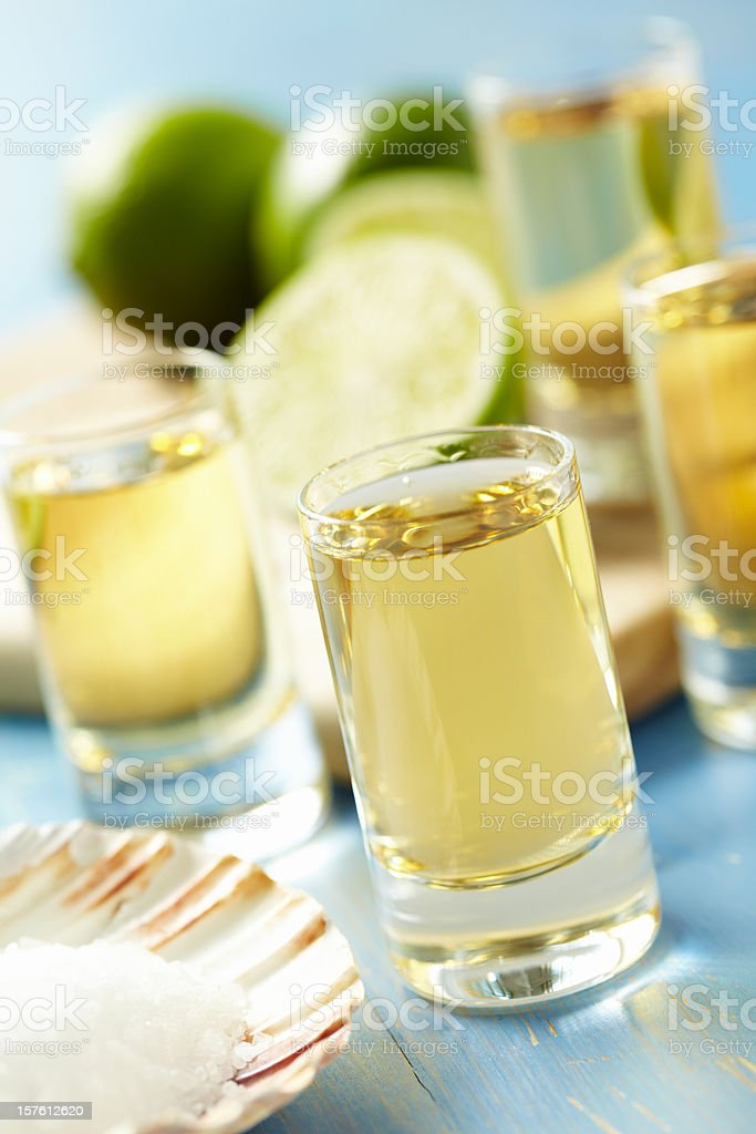 tequila shots stock photo